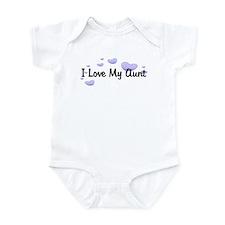 Love Aunt Purple Hearts Baby/Toddler bodysuits