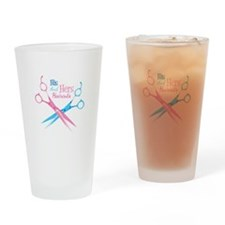 His and Hers Haircuts Drinking Glass