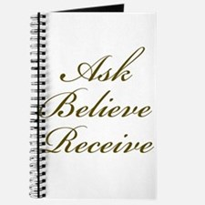 Gold Script Ask Believe Receive Journal