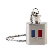 France (Flag, International) Flask Necklace
