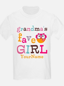 Grandmas Favorite Girl Personalized T-Shirt