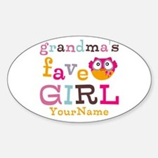 Grandmas Favorite Girl Personalized Bumper Stickers