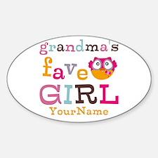 Grandmas Favorite Girl Personalized Decal