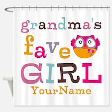 Grandmas Favorite Girl Personalized Shower Curtain