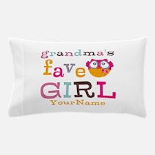 Grandmas Favorite Girl Personalized Pillow Case
