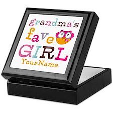 Grandmas Favorite Girl Personalized Keepsake Box