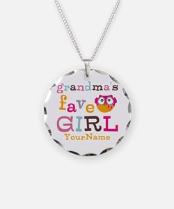 Grandmas Favorite Girl Personalized Necklace Circl