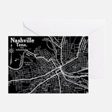 Vintage Nashville Black Greeting Card
