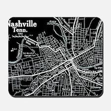 Vintage Nashville Black Mousepad
