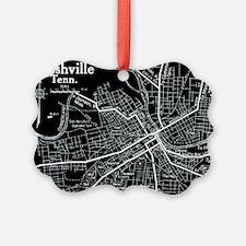 Vintage Nashville Black Ornament