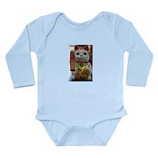 Lucky Cat Long Sleeve Infant Bodysuit