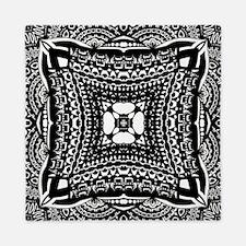 Elaborate Black and White Pattern Queen Duvet