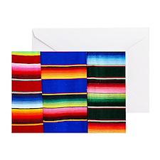 Serape stripes Greeting Cards
