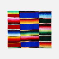 Serape stripes Throw Blanket