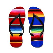 Serape stripes Flip Flops