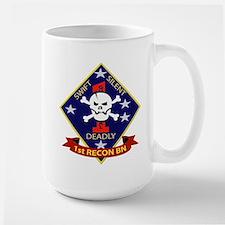 1st - Reconnaissance Battalion Large Mug
