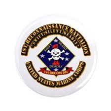 "1st - Reconnaissance Bn With Text USMC 3.5"" Button"