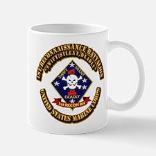 1st - Reconnaissance Bn With Text USMC Mug