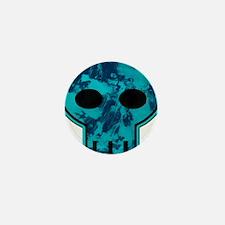 Blue Skull Mini Button