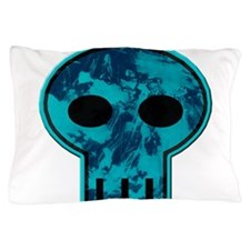 Blue Skull Pillow Case