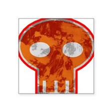 Orange Skull Sticker