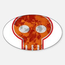 Orange Skull Decal