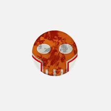 Orange Skull Mini Button
