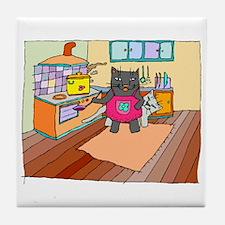 Cat Chef Tile Coaster