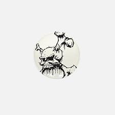 Skull and Bones Mini Button
