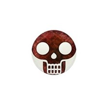 Textured Skull Mini Button