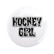 """Hockey Girl 3.5"""" Button"""