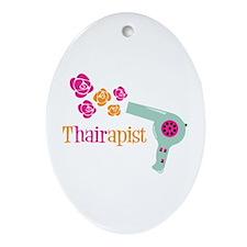 tHAIRapist Ornament (Oval)