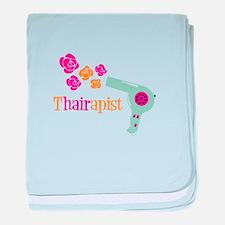 tHAIRapist baby blanket