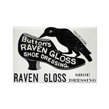 Vintage Raven with Shoe  Rectangle Magnet