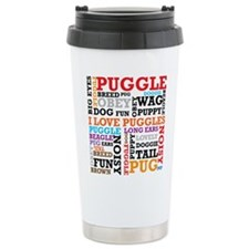 Cute I love my puggle Travel Mug