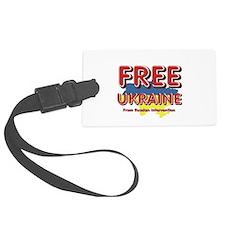 Free Ukraine Luggage Tag