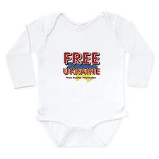 Free Ukraine Long Sleeve Infant Bodysuit