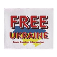 Free Ukraine Throw Blanket