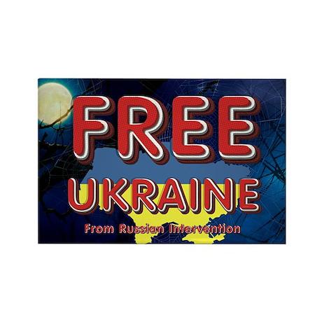Free Ukraine Rectangle Magnet