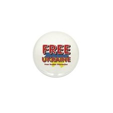 Free Ukraine Mini Button (10 pack)