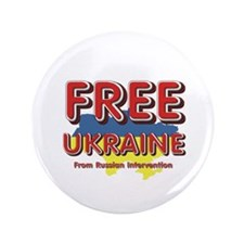 """Free Ukraine 3.5"""" Button (100 pack)"""