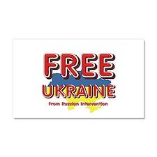 Free Ukraine Car Magnet 20 x 12