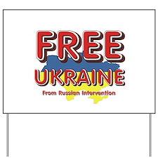 Free Ukraine Yard Sign