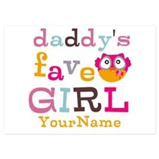 Daddys Favorite Girl Personalized 5x7 Flat Cards
