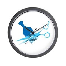 Scissors and Comb Wall Clock