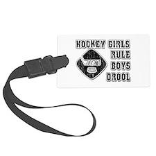Hockey Girl Luggage Tag