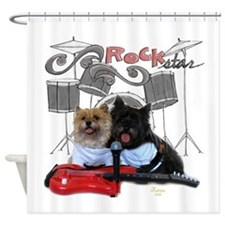 guitarherow-drums.png Shower Curtain