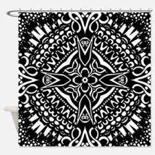 Intricate Cross Geometry  Shower Curtain