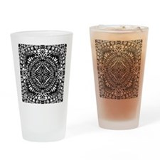Intricate Cross Geometry  Drinking Glass