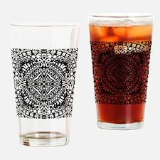 Intricate Cross Geometry  Drinking Glass